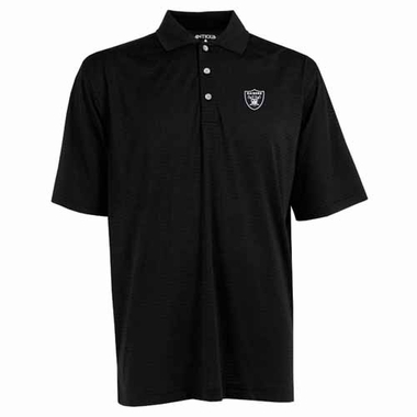 Oakland Raiders Mens Phoenix Waffle Weave Polo (Team Color: Black)