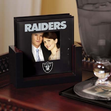 Oakland Raiders Photo Coaster Set