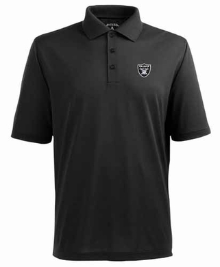 Oakland Raiders Mens Pique Xtra Lite Polo Shirt (Team Color: Black)