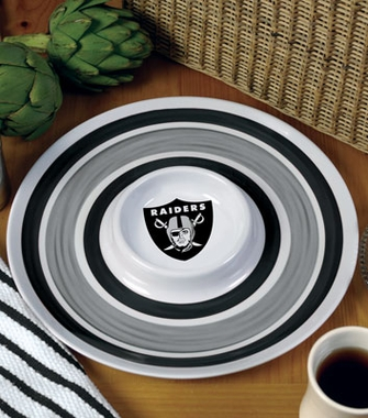 Oakland Raiders Plastic Chip and Dip Plate