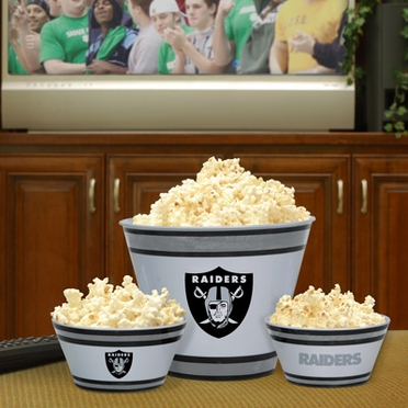 Oakland Raiders Plastic Serving Set