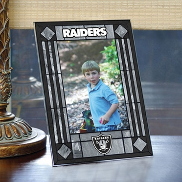 Oakland Raiders Portrait Art Glass Picture Frame