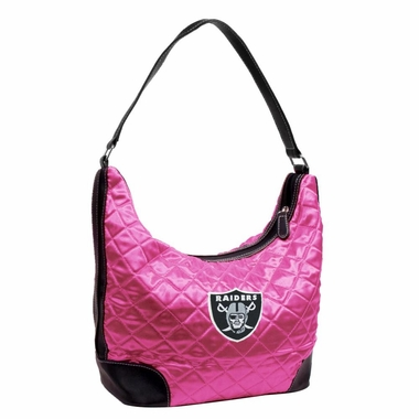 Oakland Raiders Quilted Hobo Purse