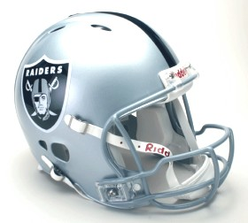 Oakland Raiders Riddell Full Size Authentic Revolution Helmet