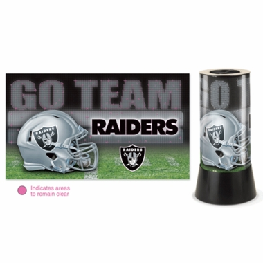 Oakland Raiders Rotating Lamp