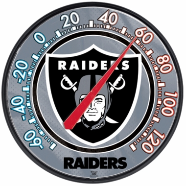 Oakland Raiders Round Wall Thermometer