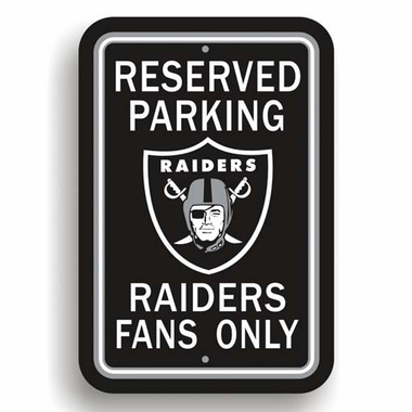 Oakland Raiders Plastic Reserved Parking Sign (P)