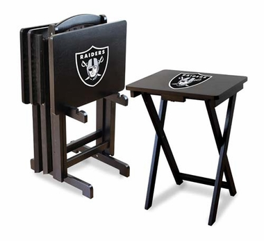 Oakland Raiders Set of 4 Folding TV Trays