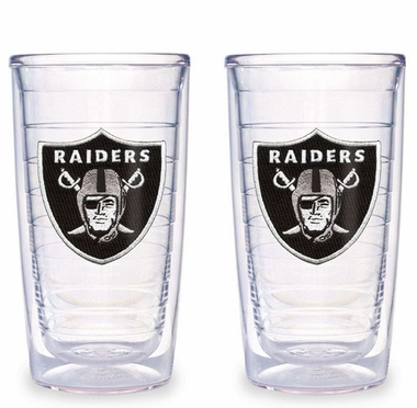 Oakland Raiders Set of TWO 16 oz. Tervis Tumblers