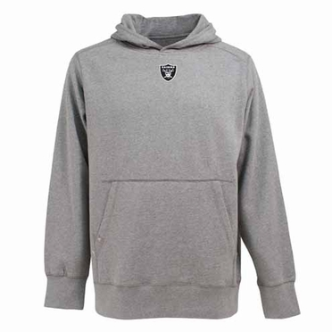 Oakland Raiders Mens Signature Hooded Sweatshirt (Color: Gray)