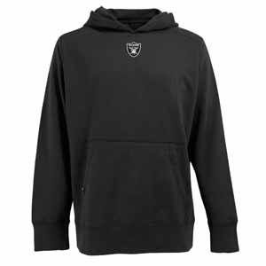 Oakland Raiders Mens Signature Hooded Sweatshirt (Team Color: Black) - Large