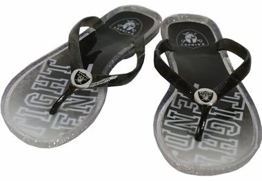 Oakland Raiders Slogan Jelly Flip Flops