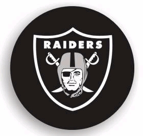 Oakland Raiders Black Tire Cover - Standard Size