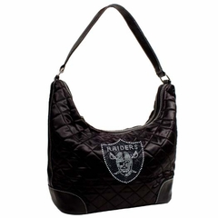 Oakland Raiders Sport Noir Quilted Hobo
