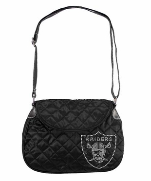 Oakland Raiders Sport Noir Quilted Saddlebag