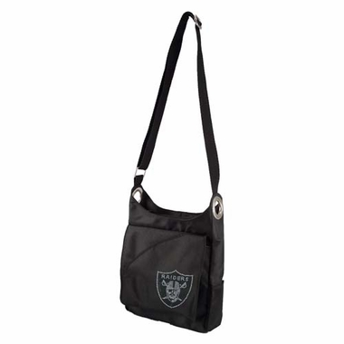 Oakland Raiders Sport Noir Sheen Crossbody Bag