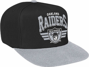 Oakland Raiders Stadium Throwback Snapback Hat