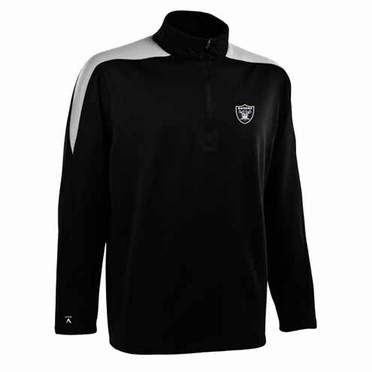 Oakland Raiders Mens Succeed 1/4 Zip Performance Pullover (Team Color: Black)