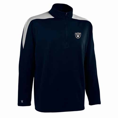 Oakland Raiders Mens Succeed 1/4 Zip Performance Pullover (Color: Smoke)