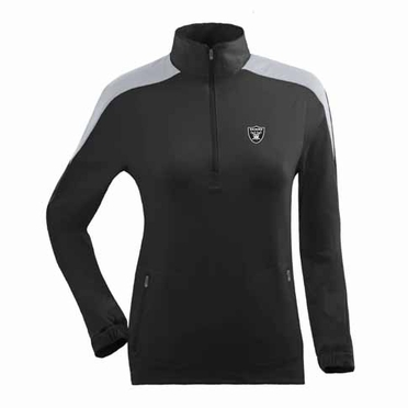 Oakland Raiders Womens Succeed 1/4 Zip Performance Pullover (Team Color: Black)