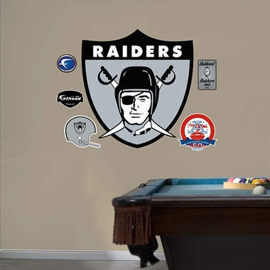 Oakland Raiders Throwback Logo Logo Fathead Wall Graphic