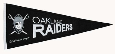 Oakland Raiders Throwback Wool Pennant