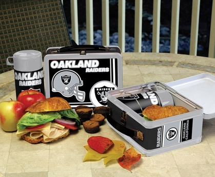 Oakland Raiders Tin Lunch Box