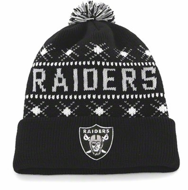 Oakland Raiders Tip Off Cuffed Knit Hat