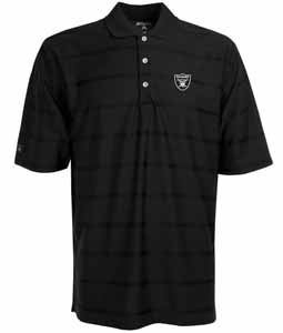 Oakland Raiders Mens Tonal Polo (Team Color: Black) - X-Large