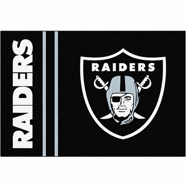 Oakland Raiders Uniform Inspired 20 x 30 Rug