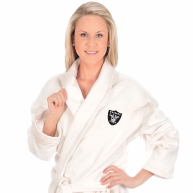 Oakland Raiders UNISEX Bath Robe (White)