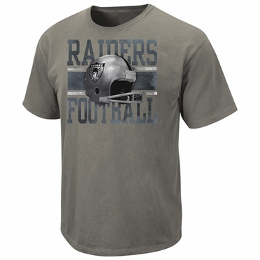 Oakland Raiders Vintage Roster III Pigment Dye Distressed T-Shirt
