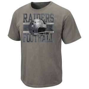 Oakland Raiders Vintage Roster III Pigment Dye Distressed T-Shirt - Large