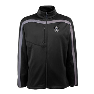 Oakland Raiders Mens Viper Full Zip Performance Jacket (Team Color: Black)
