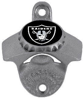 Oakland Raiders Wall Mount Bottle Opener