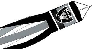 "Oakland Raiders 57"" Windsock"
