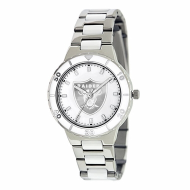 Oakland Raiders Women's Pearl Watch