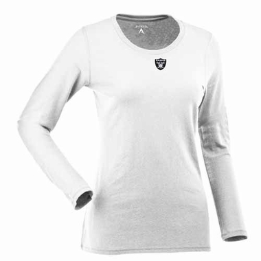 Oakland Raiders Womens Relax Long Sleeve Tee (Color: White)