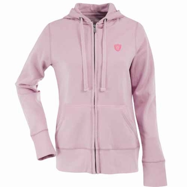 Oakland Raiders Womens Zip Front Hoody Sweatshirt (Color: Pink)