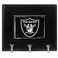 Oakland Raiders Wooden Keyhook Rack