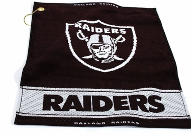 Oakland Raiders Woven Golf Towel