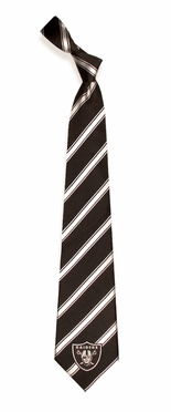 Oakland Raiders Woven Poly 1 Necktie