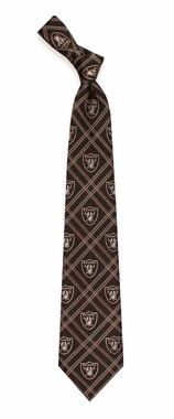 Oakland Raiders Woven Poly 2 Necktie