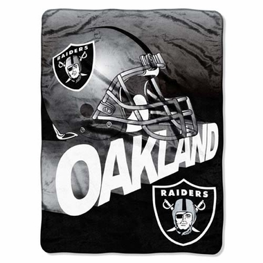 Oakland Raiders XL Micro Raschel Blanket