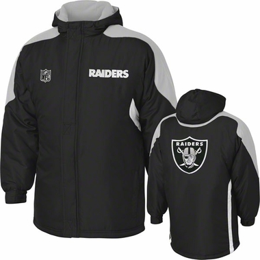 Oakland Raiders YOUTH Field Goal Midweight Full Zip Hooded Jacket