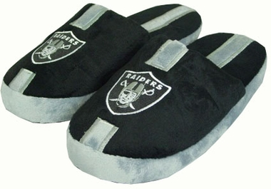 Oakland Raiders YOUTH Team Stripe Slide Slippers