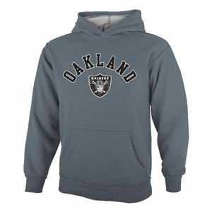 Oakland Raiders YOUTH Vintage Garment Washed Hoody - Medium