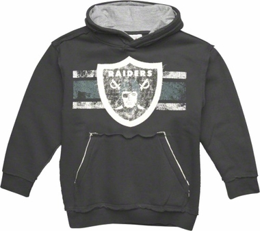 Oakland Raiders YOUTH Vintage Striped Hooded Sweatshirt