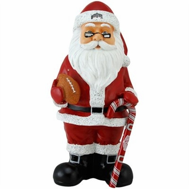 Ohio State 11 Inch Resin Team Santa Figurine