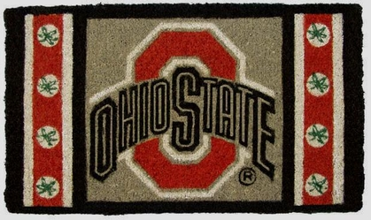 Ohio State 18x30 Bleached Welcome Mat